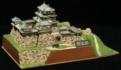 松山城(1/450)日本の名城プラモデル 初心者ビギナー版